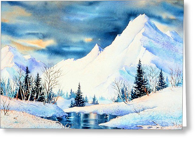 Snowy Mountains Watercolor Kit In 2020 Watercolor Art Landscape