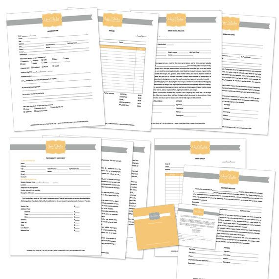 WORD doc Photography Contract, Model Release, Print Release