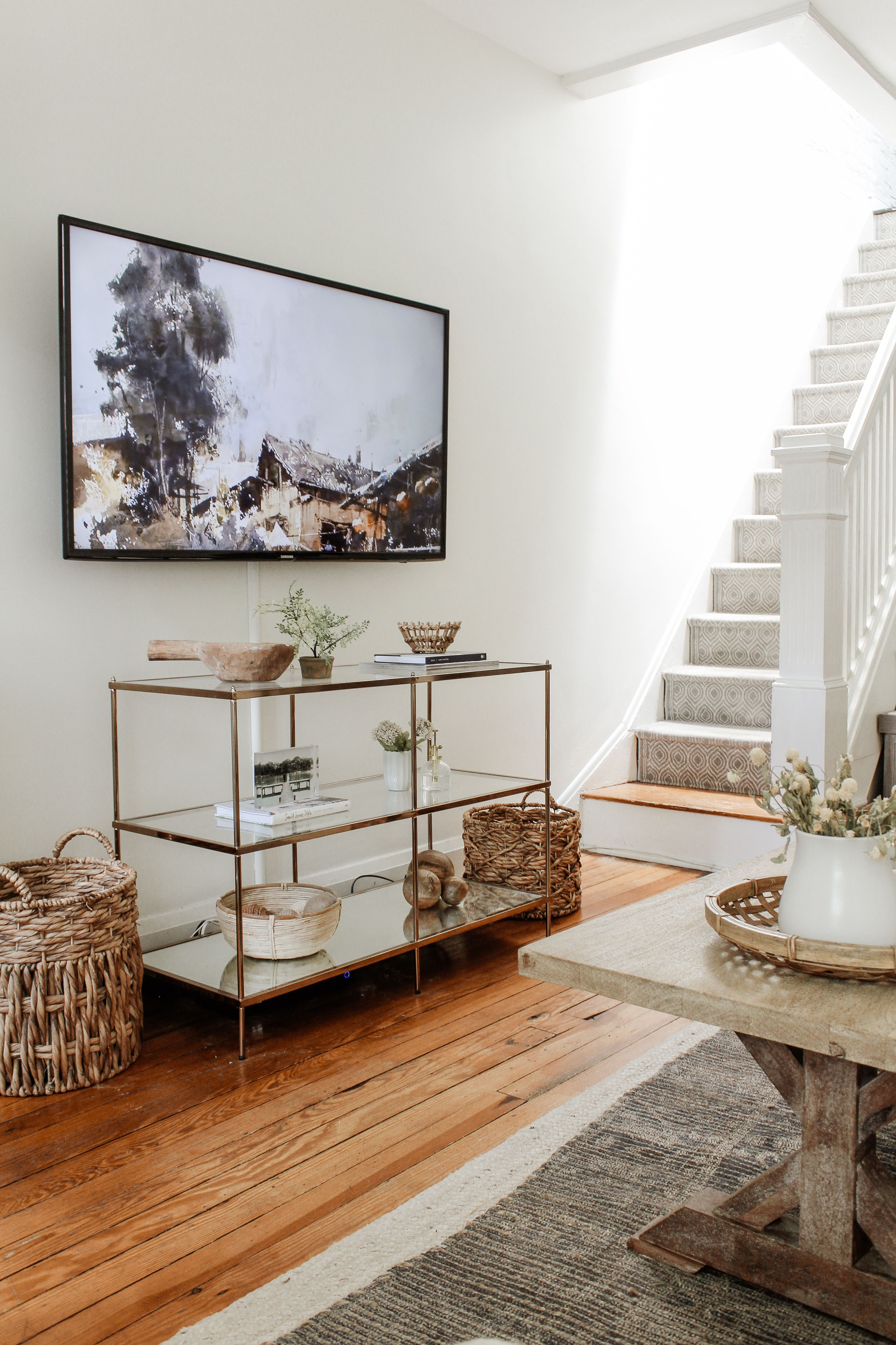 7 Tips For Small Space Living Our City Nest In 2020 Small Space Living Layered Rugs Living Room Small Space Living Room