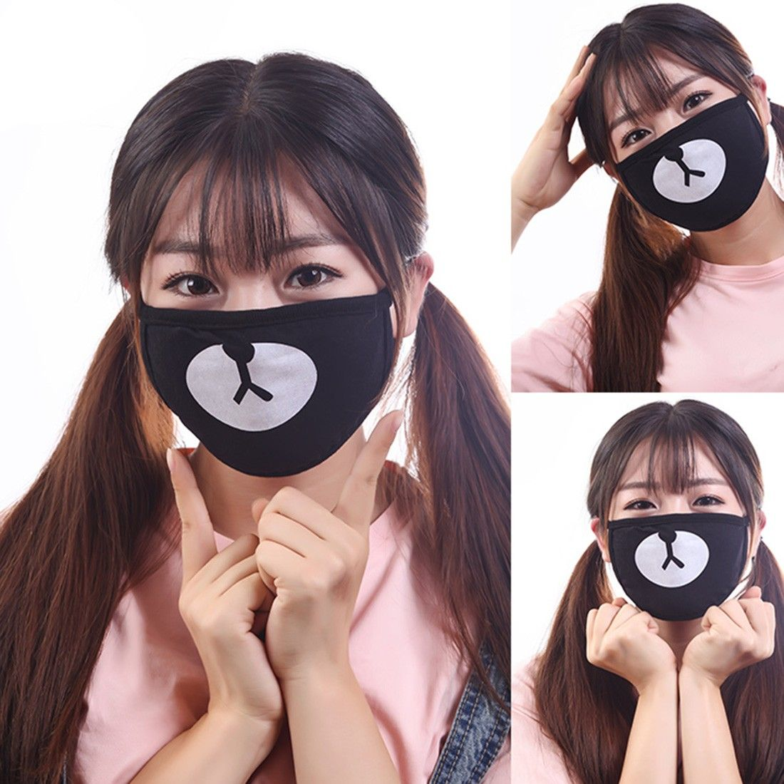 Masks Hot 1pc Exo Chan Yeol Bear Mouth Mask Muffle Exo-k Chanyeol Face Respirator Cartoon Anti Dust Mask Kpop Cotton Mouth Mask