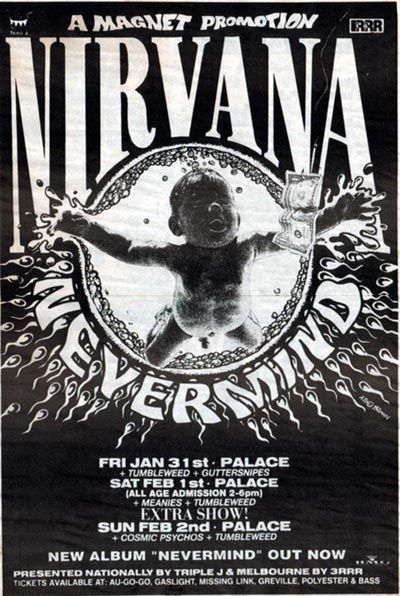 Nirvana Nevermind Poster