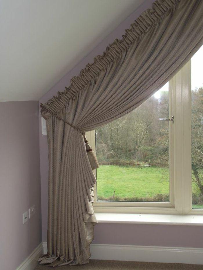 Tende per finestre mansarda proposta elegante raffinata - Finestra a bovindo ...
