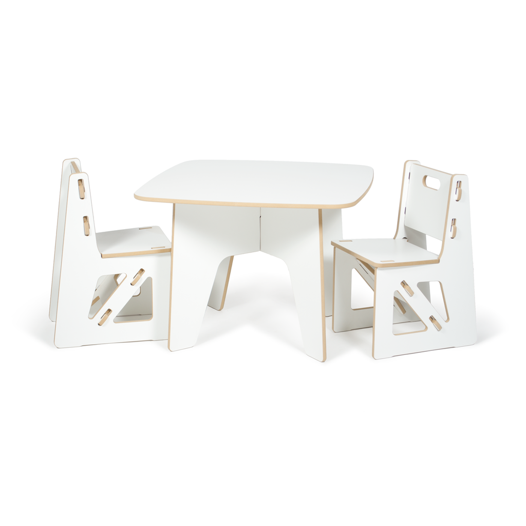 Modern Kids Table And Chairs Sprout With Images White Kids Table Kids Table And Chairs Modern Kids Table