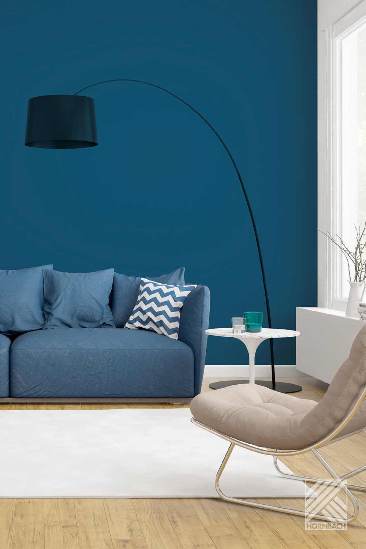 Wände Gestalten Mit Wandfarbe Wandfarbe Wand Blaue Farbe