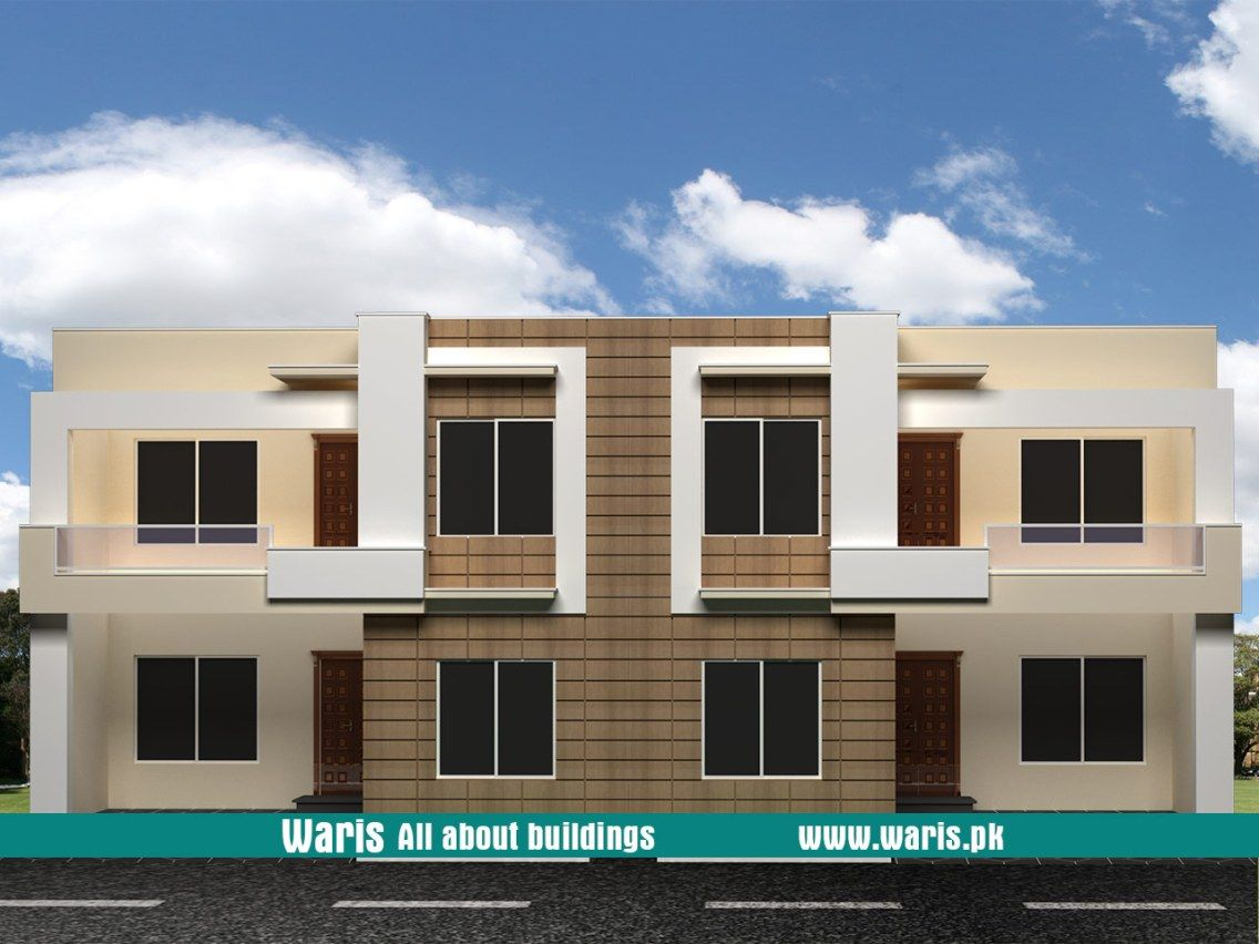 Waris house  view elevation duplex houses  in islamabad pakistan also rh pinterest