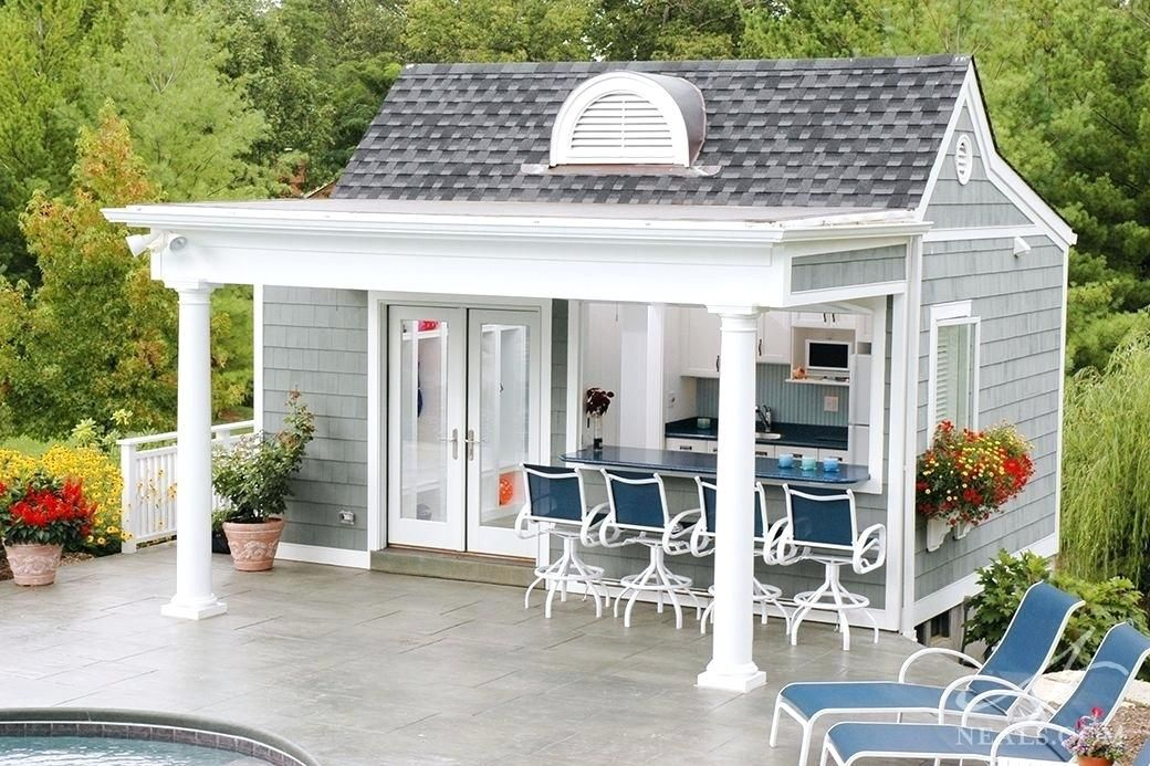 Ideas Pool House Plans Or The Pool House Is Situated On The Edge Of The Patio Over A Hill 83 Pool House Floor Pl Pool House Shed Pool House Designs Pool Houses