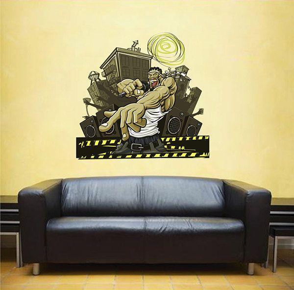kcik285 Full Color Wall decal Artist Ms Negro rap singer bedroom ...