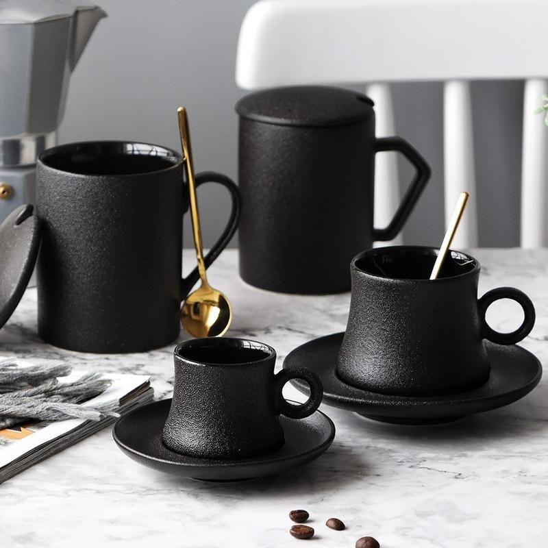 Blacked out mug in 2020 ceramic coffee cups mugs set mugs