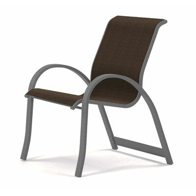 Telescope Casual Aruba Ii Sling Stacking Patio Dining Chair Seat Color Bruno Frame Color Silver In 2020 Patio Dining Chairs Outdoor Chairs Dining Chair Set