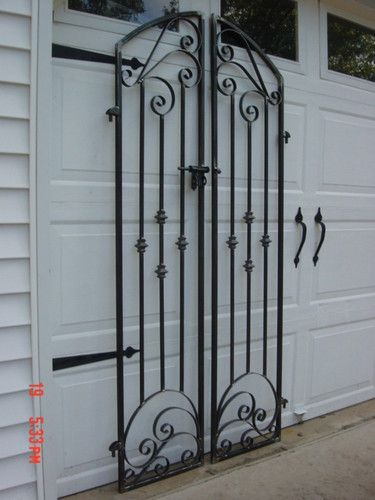 FRENCH COUNTRY IRON SCROLL GARDEN GATE 6FT TALL!!!
