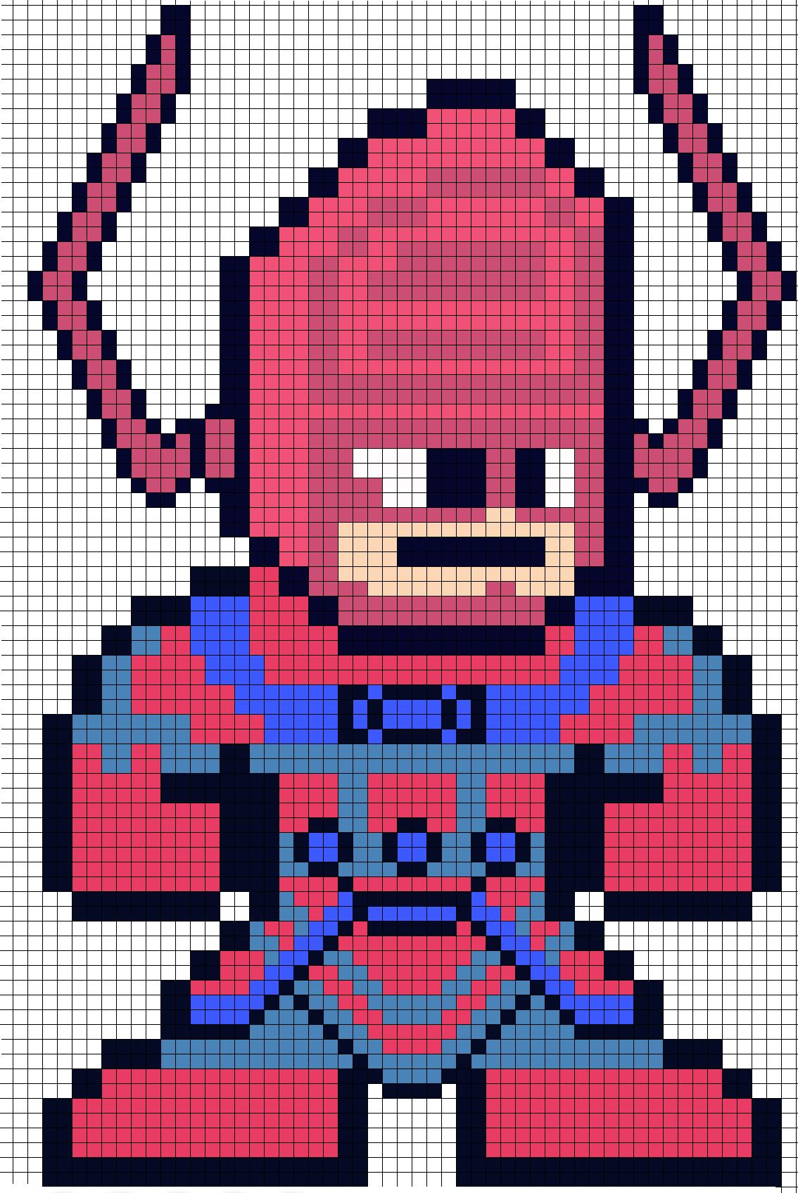 Galactus Perler Bead Pattern Marvel 8 Bit Perler Bead Patterns