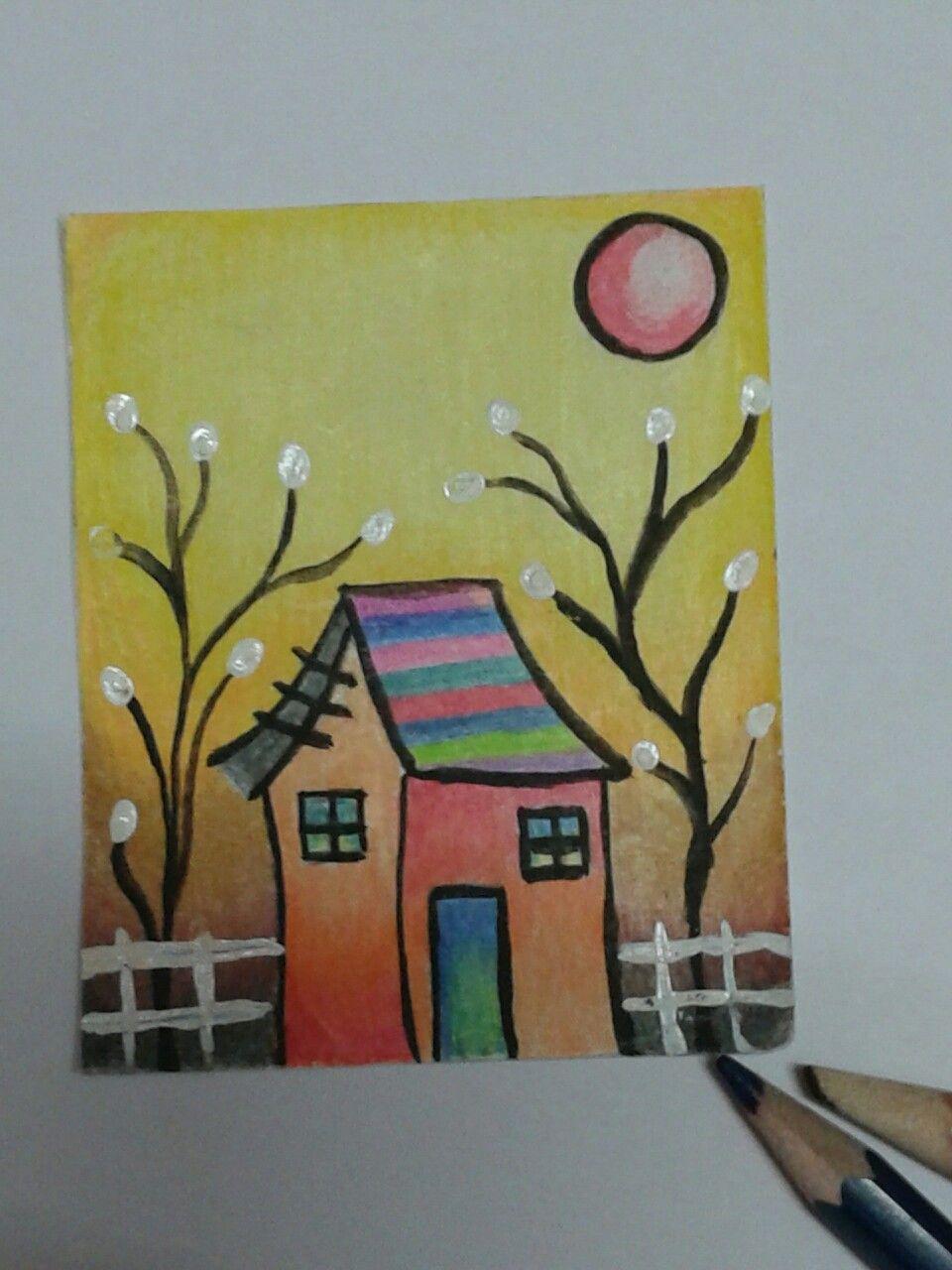 simple pencil colour drawing florous my work pinterest