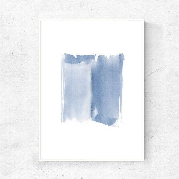 Watercolor Print Digital Download Abstract Art Download Blue Art