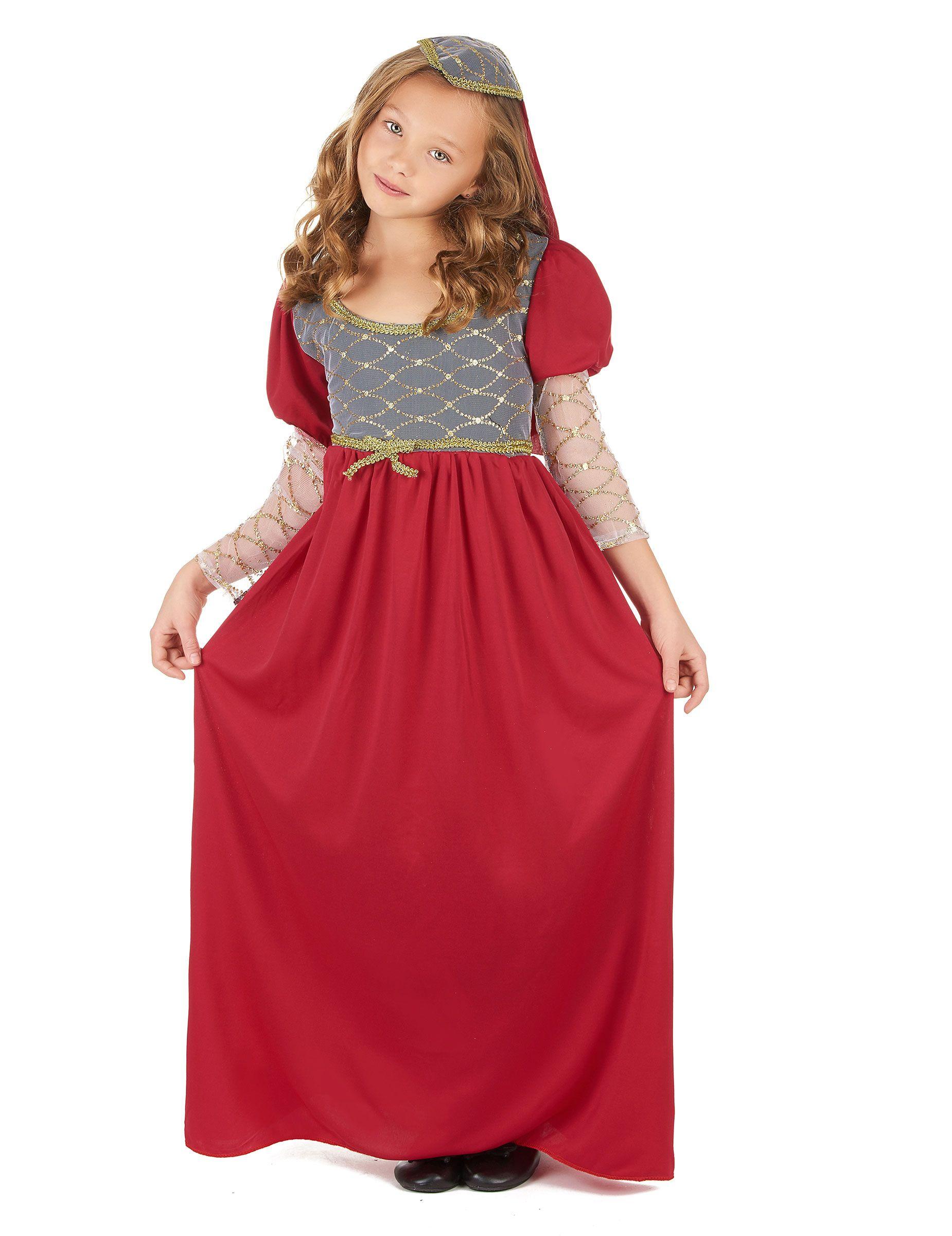 c8bfbe5bf02 Déguisement médiéval fille   Ce déguisement de princesse médiévale pour  fille se compose d une