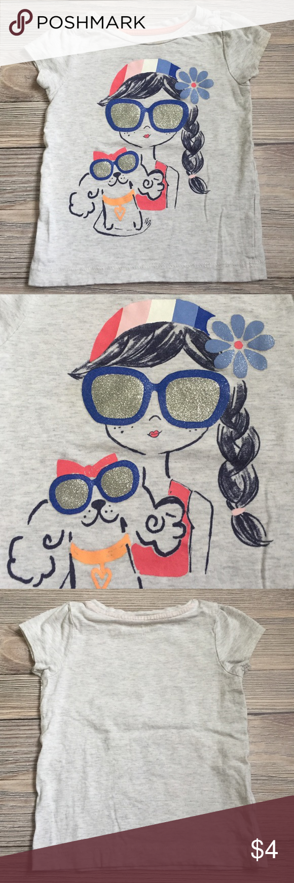 Gymboree Girls Tee Gymboree Girls Tee. Slight discoloration at neckline.  Smoke free/ pet free home. Gymboree Shirts & Tops Tees - Short Sleeve