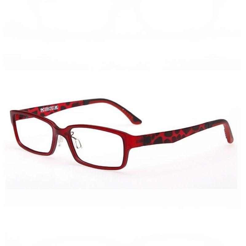 Lightweight Optical Prescription Glasses Rectangle Plastic-Steel Red ...