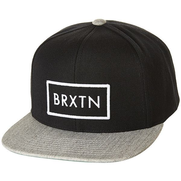 5b40abf749e BRIXTON RIFT SNAPBACK CAP BLACK HEATHER GREY ( 50) ❤ liked on Polyvore  featuring accessories