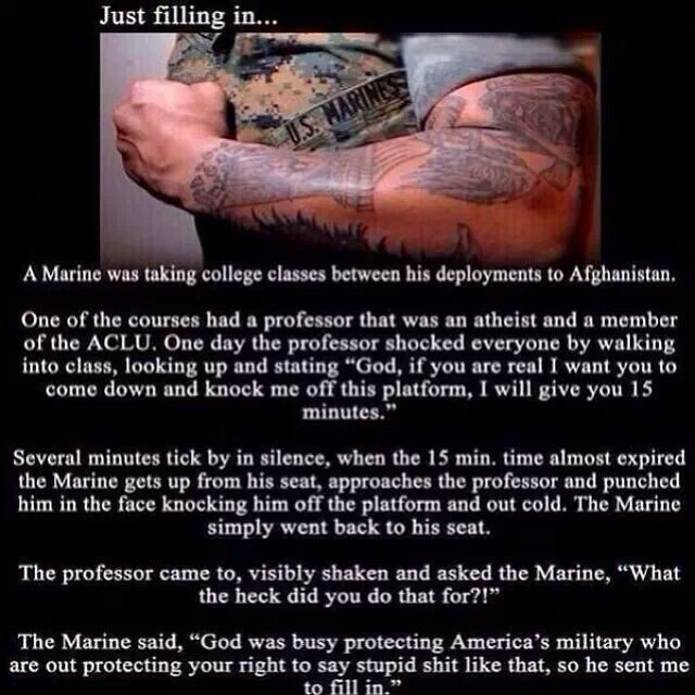 This marine is awesome! Semper Fi