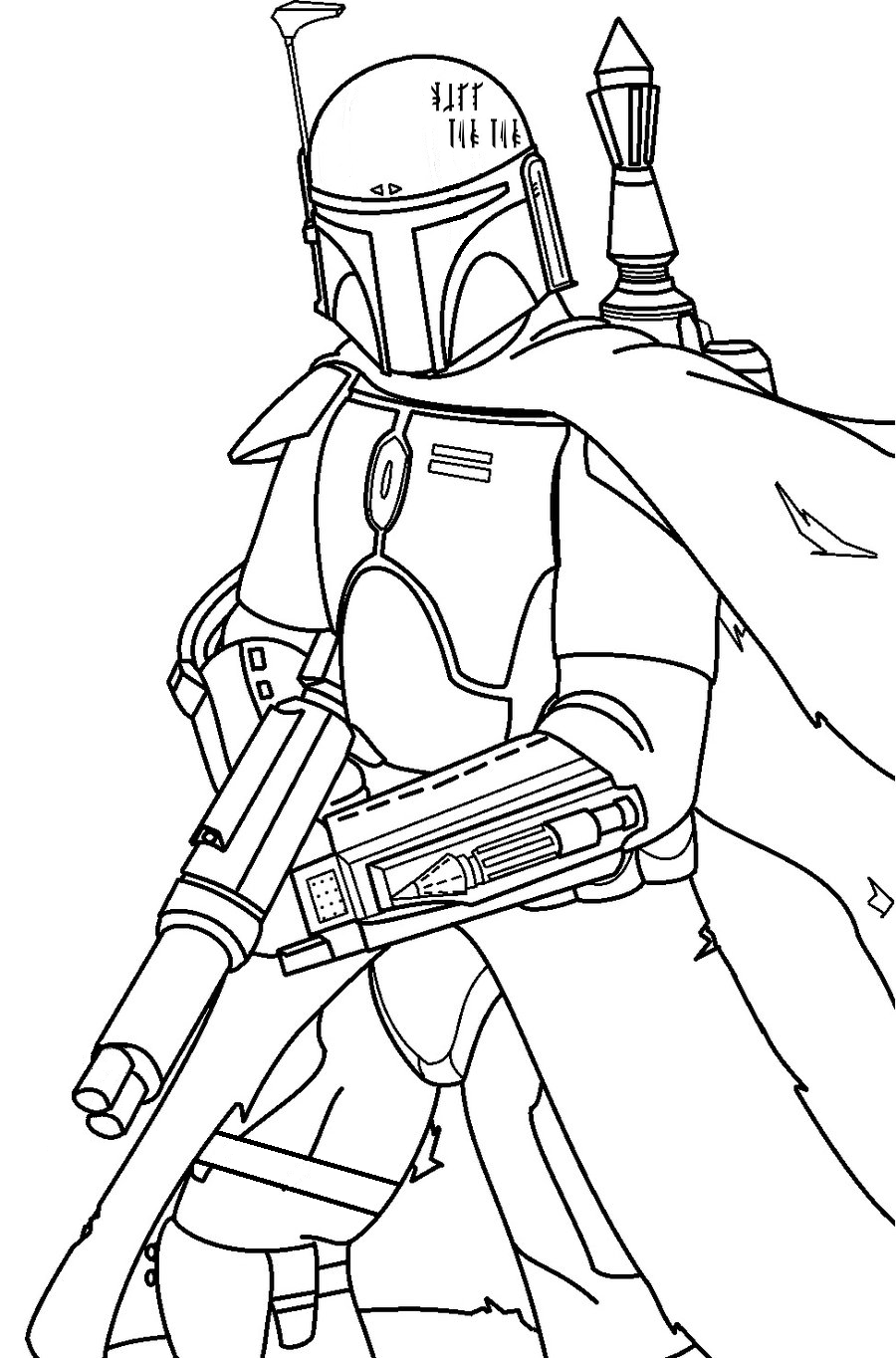 star wars drawingszachary holverson on mandalorian