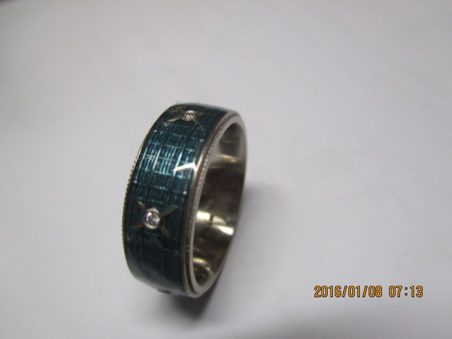 Halo R S World Ring Video Inspired Jewelry Men Wedding Band With Diamonds