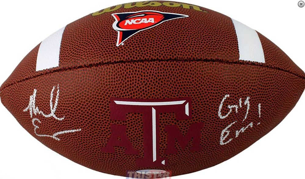 Tampa Bay Buccaneers Mike Evans Signed Inscribed Gig Em Texas A M Football Coa Tampabaybuccaneers Mike Evans Tristar Football