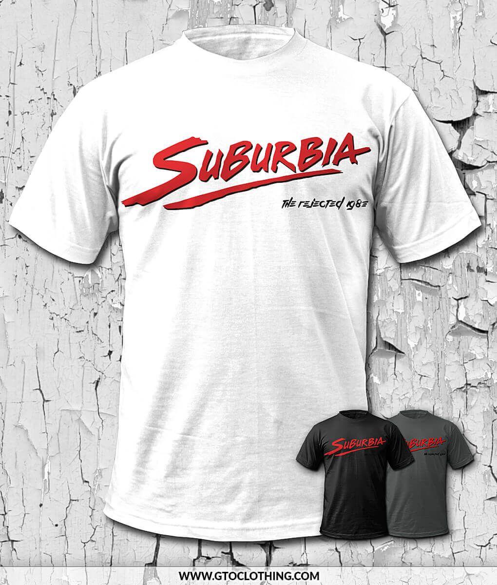 Suburbia Punk Movie Tribute T Shirt Movie Shirts Shirts Mens Tshirts
