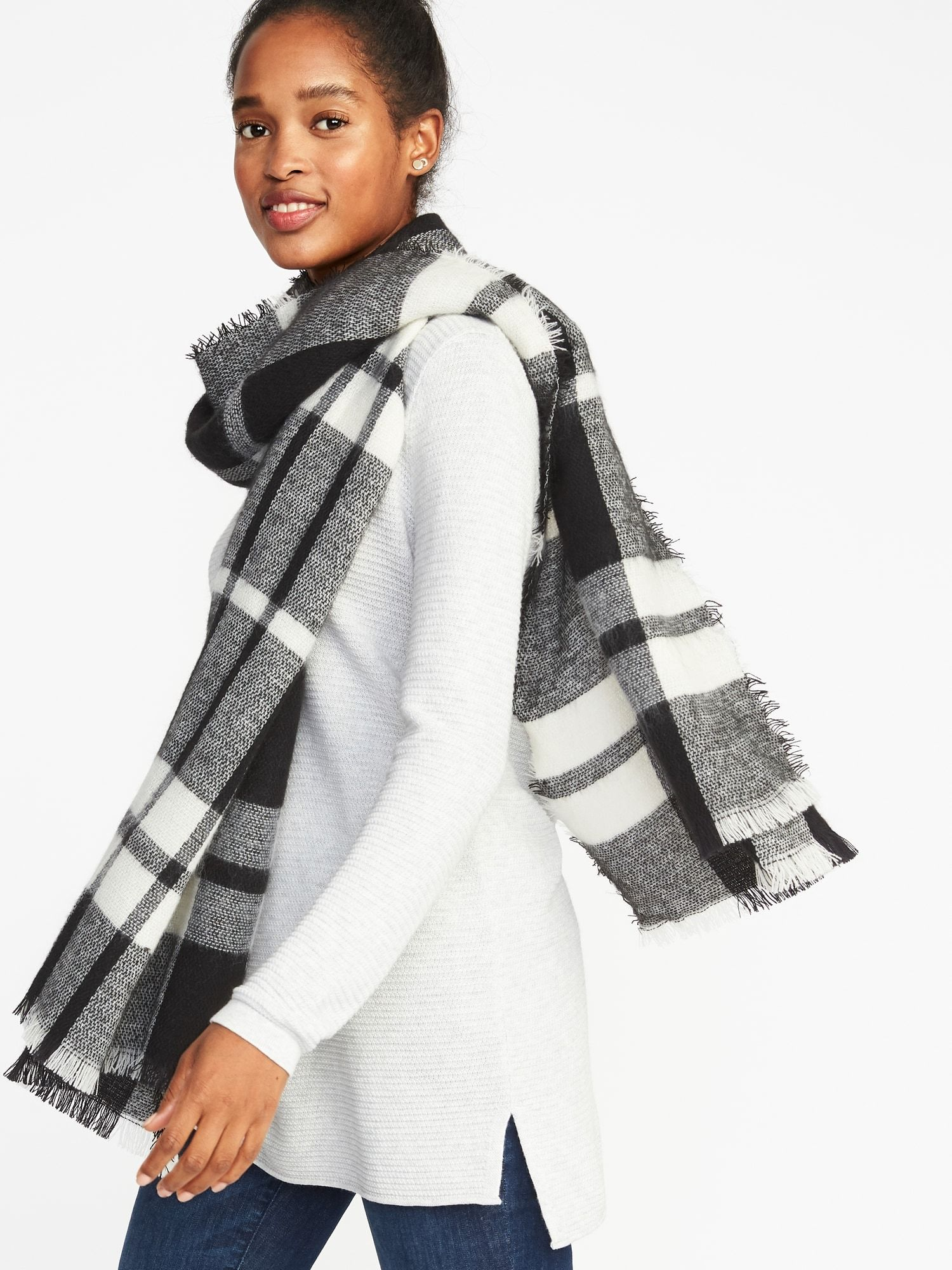 Flannel Blanket Scarf For Women Old Navy Trendy Fashion