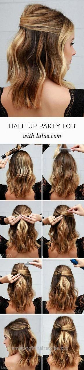 Look Over This Cool And Easy Diy Hairstyles Half Party Lob Quick