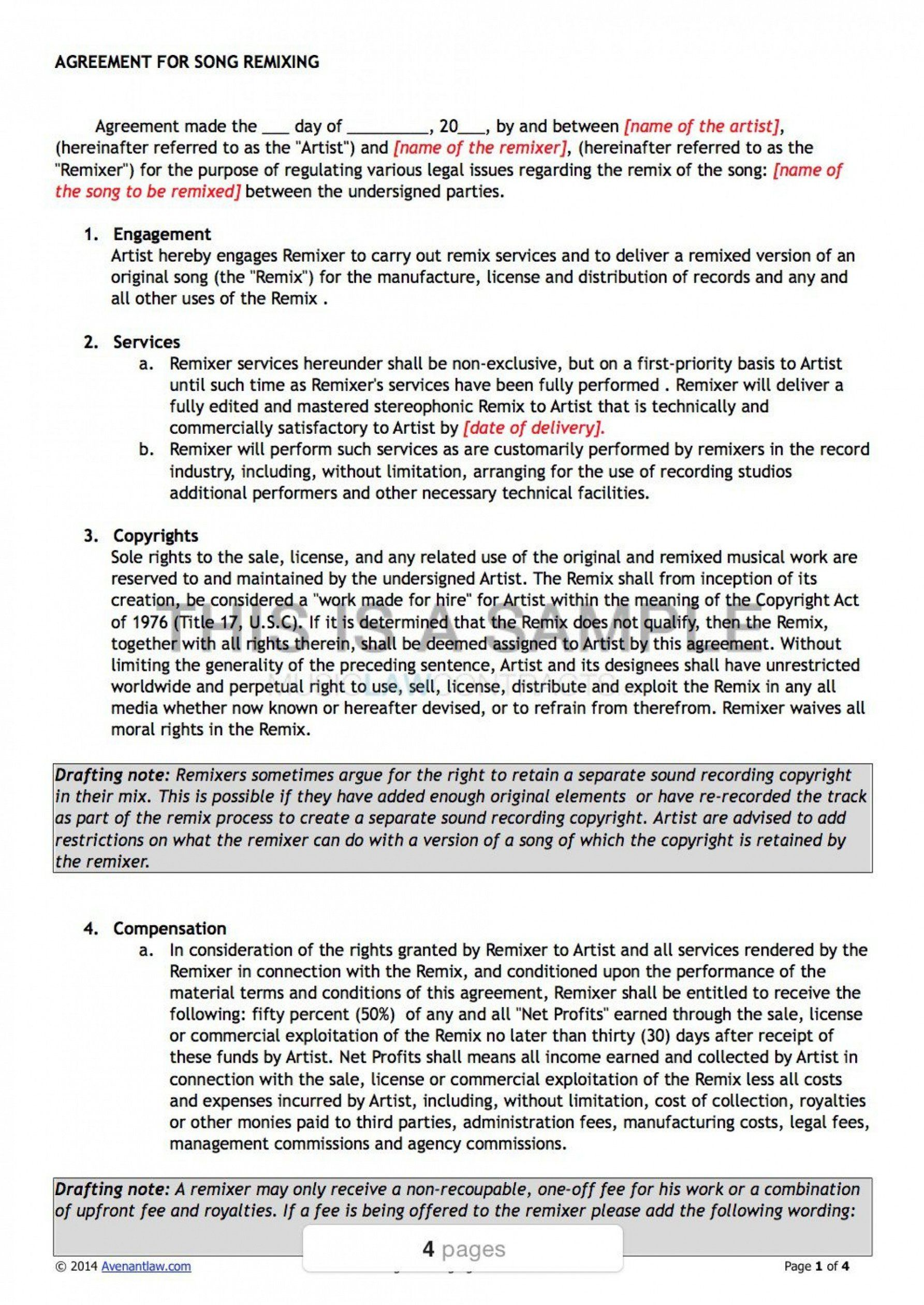 editable record label contract template ~ addictionary independent ...