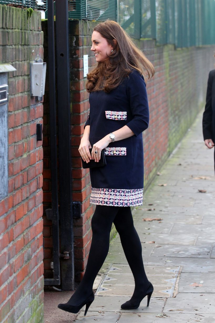 mirror:  The Duchess of Cambridge opened the Clore Art Room at Barlby Primary School, London, January 15, 2015