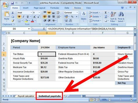 Prepare Payroll In Excel Microsoft Excel Payroll Template