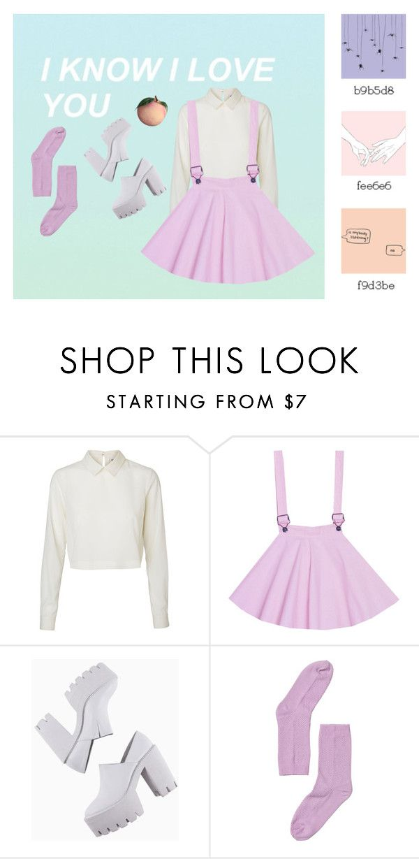 """""""So?"""" by glitchbitch ❤ liked on Polyvore featuring Vero Moda, Monki and pastel"""