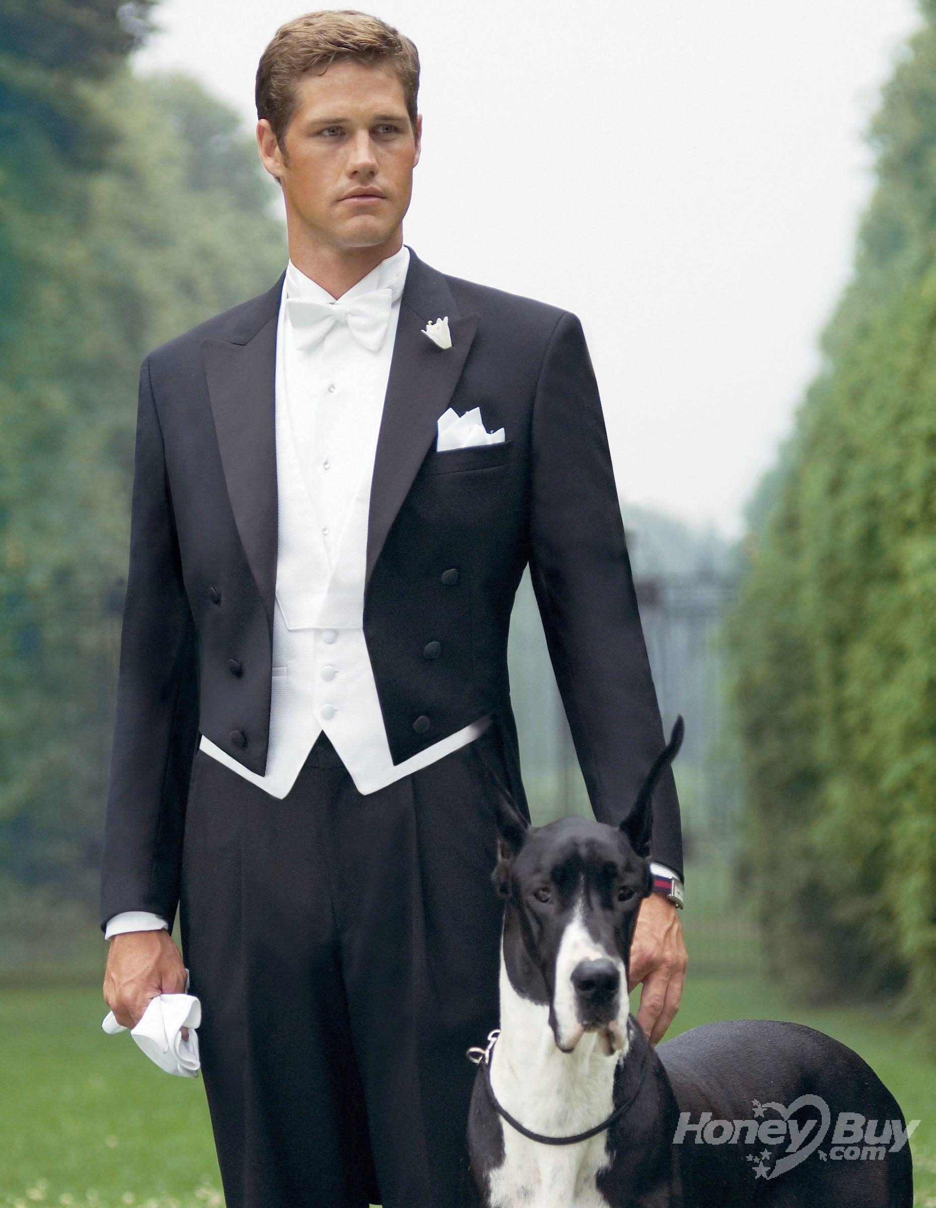 images men in tuxedos | ... Tuxedos > Peak Lapel Formal Black ...
