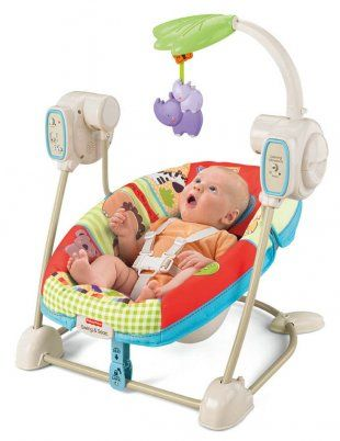 Fisher Price Luv U Zoo Space Saver Swing Availabe now online - best investment for your baby & you. Click below.
