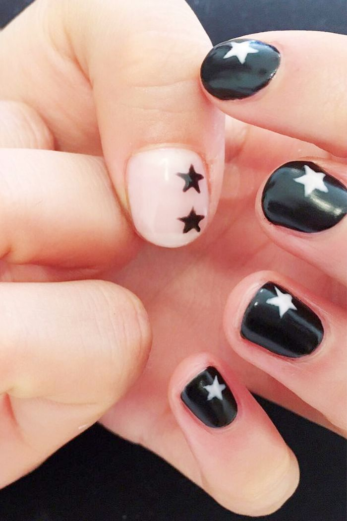 The Coolest Black And White Nail Designs According To Instagram