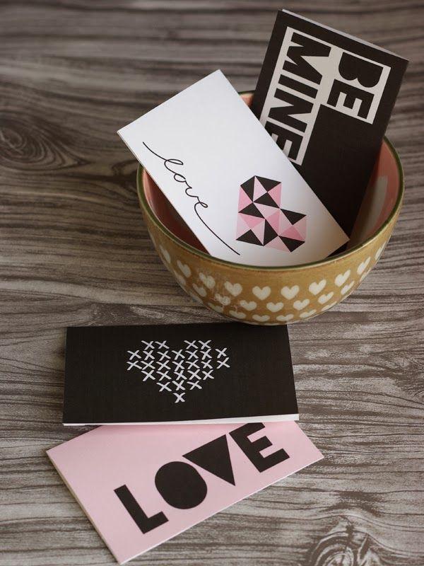 Free Printable Valentine\'s Day Cards! www.oleanderandpalm.com ...