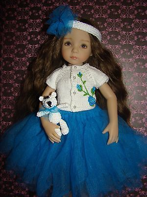 OOAK outfit with sapphire colour tutu for Dianna Effner Little Darling 13""