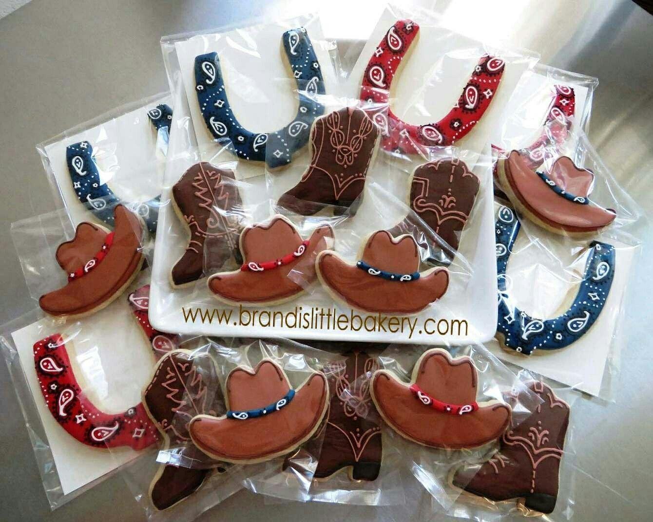 843e0e768 Cookies - Western - Horseshoes, Cowboy Hats, Cowboy Boots ...