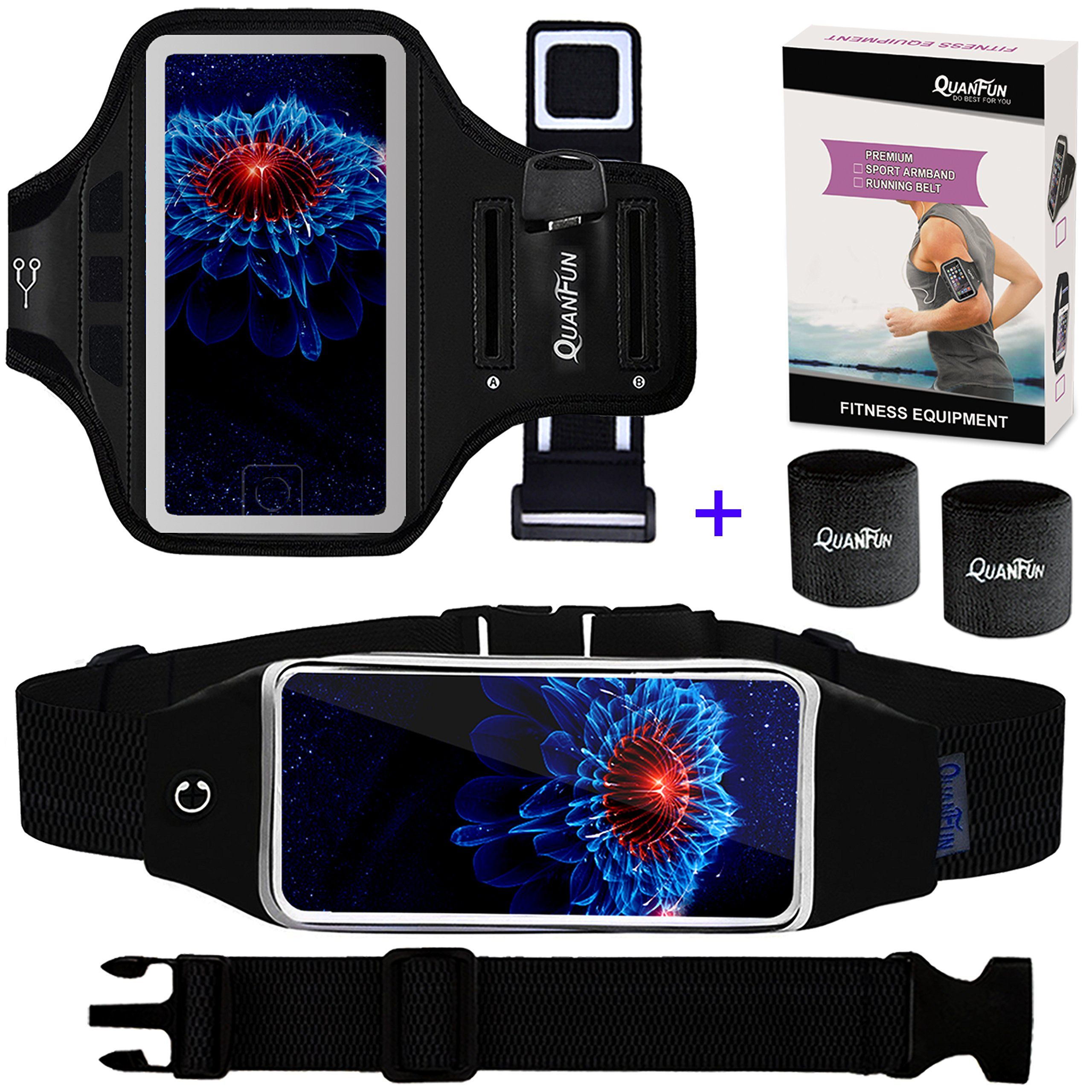 pretty nice f5872 17743 Cell Phone Armband Running Belt for iPhone 8 Plus 7 Plus 6s/6 Plus ...
