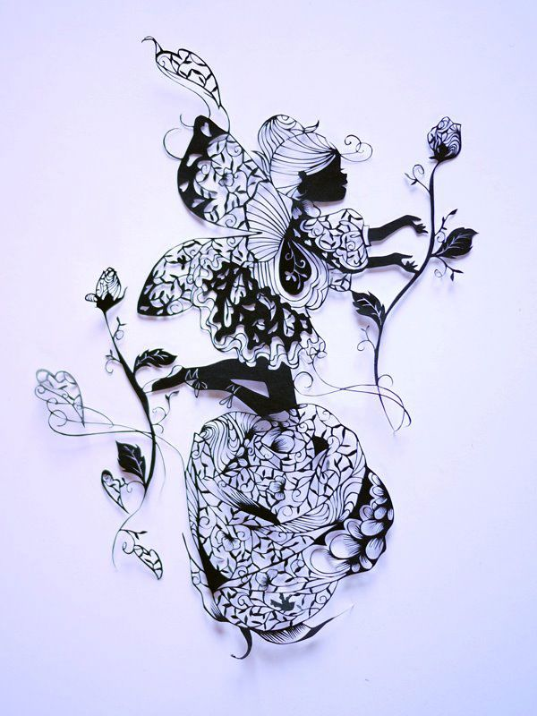 paper art with scissors by hina aoyama