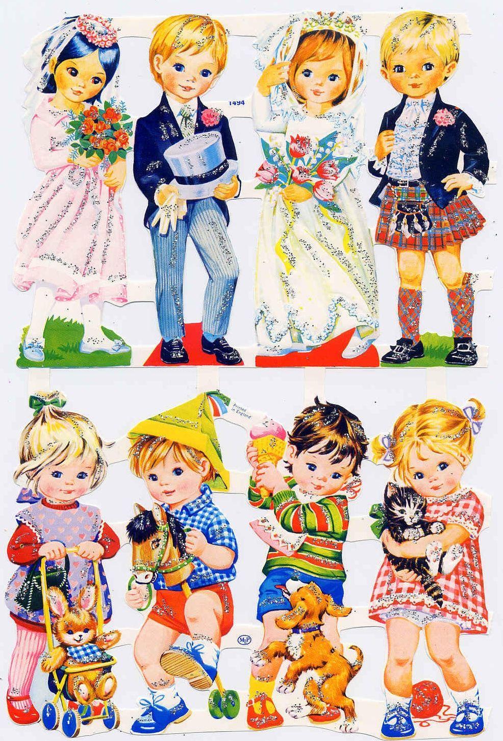 Collants Annees 70 Paper Dolls Stickers 70 S Vintage Baby Pictures Scrap Paper Childhood Memories