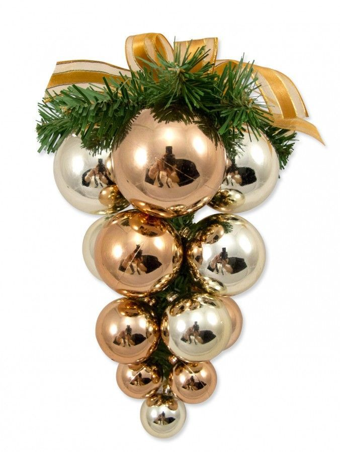 Grape Cluster With Ribbon Bow Christmas Decorations Christmas Decorations Christmas Christmas Bulbs