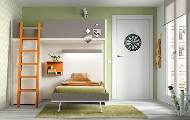 Litera con luz led en la parte inferior dormitorios - Literas juveniles modernas ...