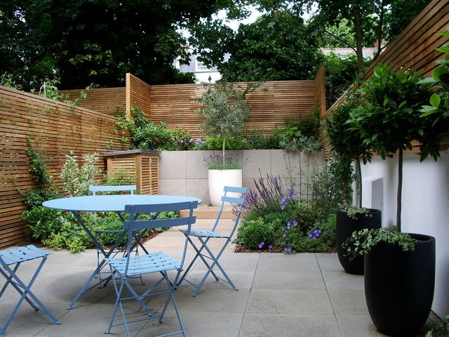 Courtyard Garden Design In Barnsbury London Contemporary Simple home ...