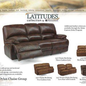 Flexsteel Furniture Dylan Leather Sofa