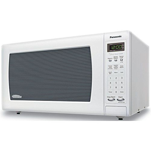 Panasonic 1250 Watt 1 6 Cu Ft Genius Sensor Microwave Oven With Inverter Technology White Microwave Oven Microwave Countertop Microwave