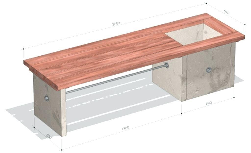 Gartenbank Beton Bank Betonbank Selber Bauen Betonplatten