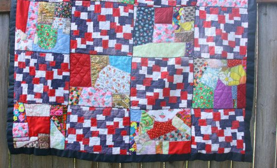 Vintage Patchwork Quilt by TheMixingBowlOnline on Etsy, $28.00