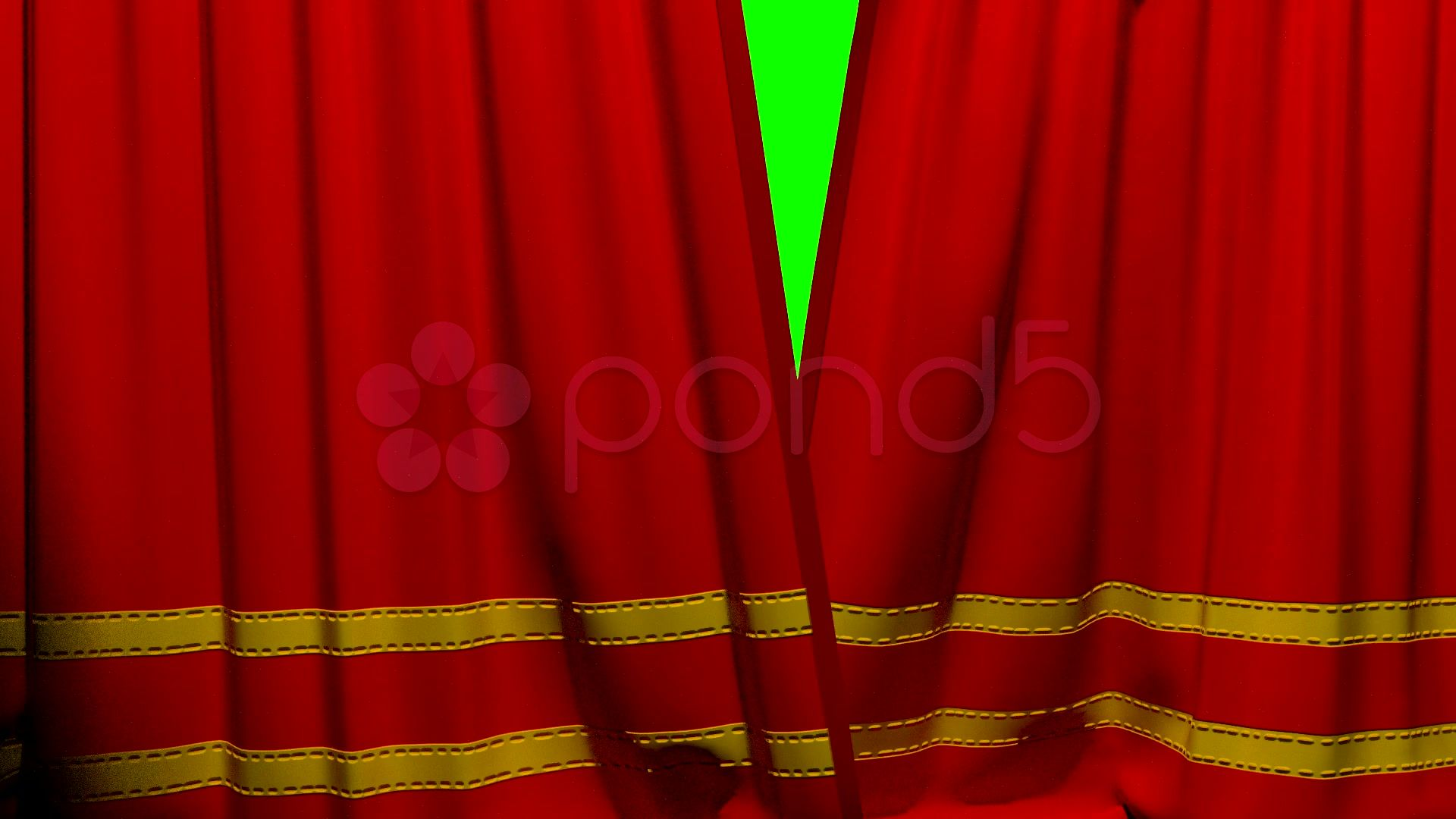 Curtains Opening And Closing Stage Theater Cinema Red With Trim