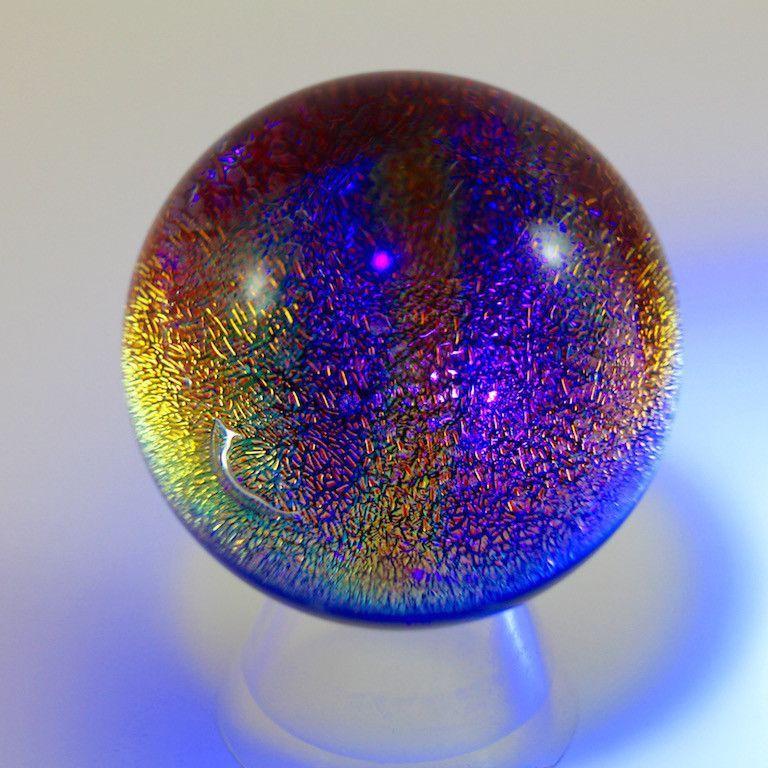 Marble Dichroic Glass art